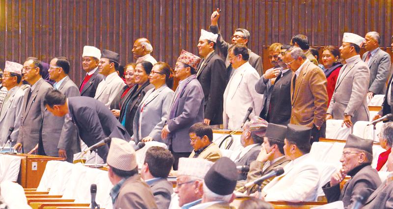 संसद् बैठक सर्यो, राजपालाई चुनाव चिह्न दिलाउने सरकारको तयारी