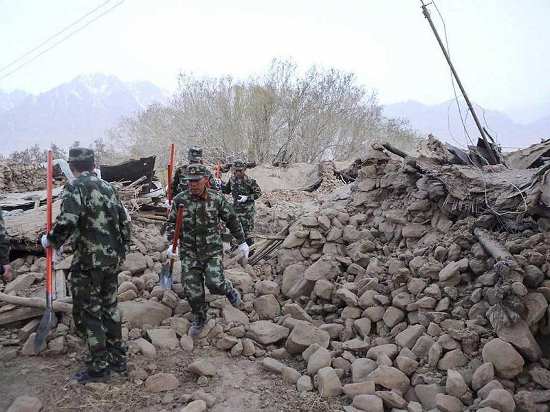 चीनमा भूकम्प : मृत्यु हुनेको सङ्ख्या १९ पुग्यो, सयौं घाइते