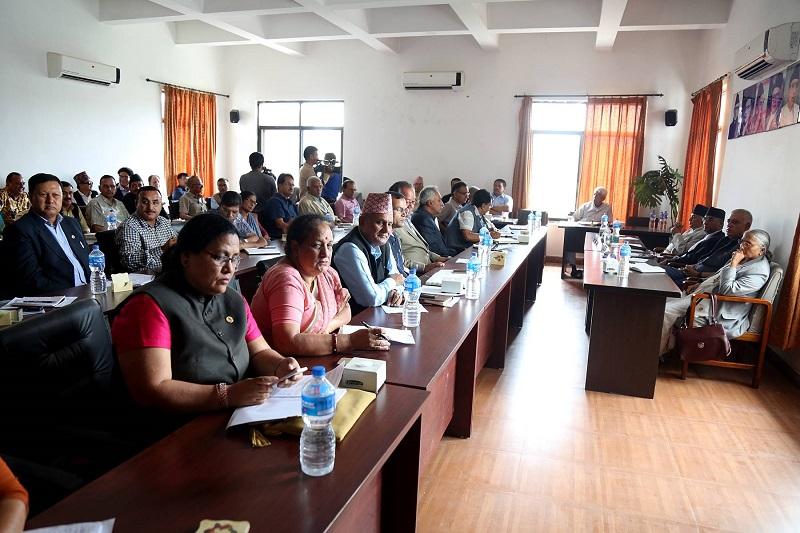 काँग्रेस केन्द्रीय समिति बैठक जारी