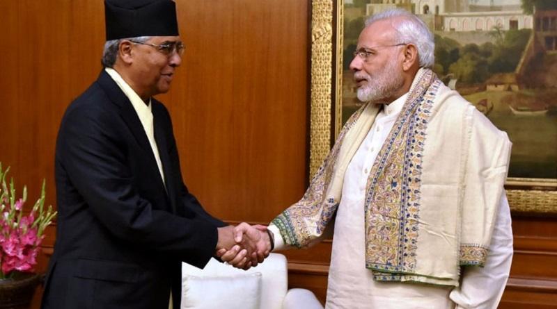 देउवालाई भारतीय प्रधानमन्त्री मोदीको बधाई