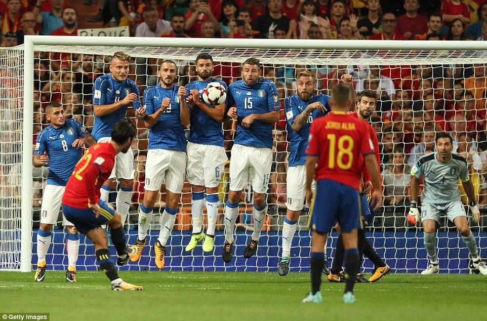 विश्वकप छनौट अन्तर्गत शनिबार राति भएको खेलमा स्पेनद्वारा इटाली ३–० ले पराजित